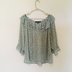 Forever 21 sheer butterfly Flowy blouse